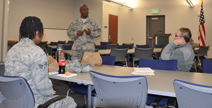 Command chief shares career development insight with junior enlisted
