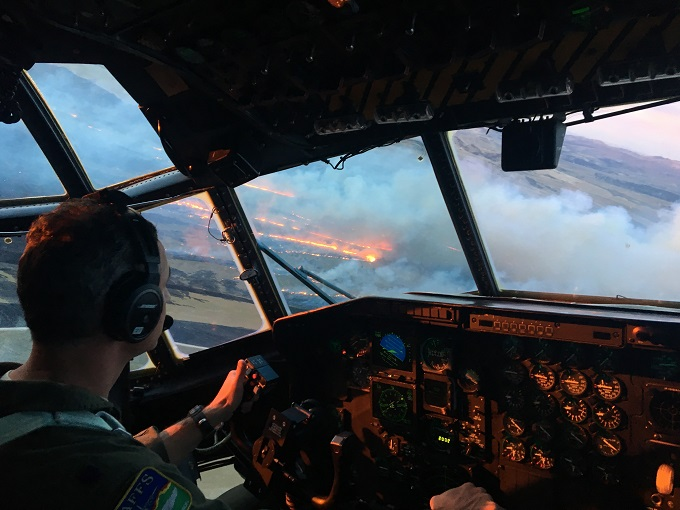 Reservists, Guardsmen provide surge support to Great Basin fires with MAFFS C-130s